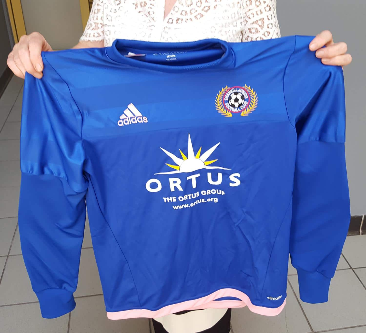 Shankill Juniors Shirt Funded by Ortus