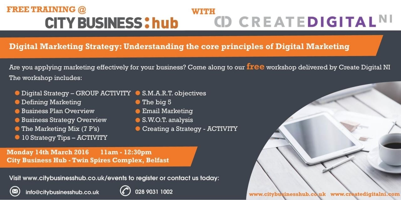 CBH Event – Digital Strategy with Create Digital NI