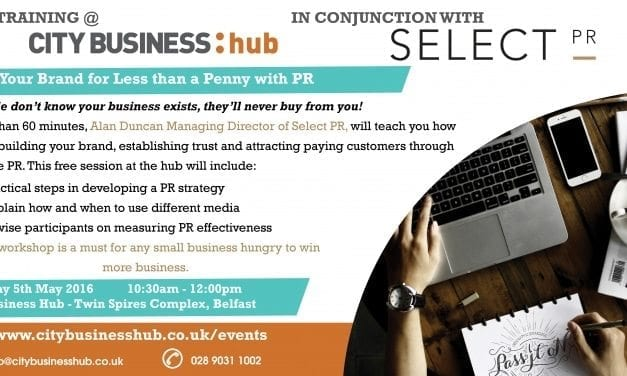 CBH Event – Build Your Brand For Less Than A Penny with Select PR