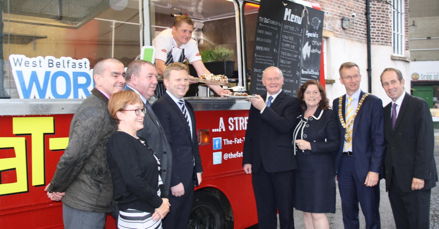 Peter Callan, The Fat Truck with Martin McGuinness - The Ortus Group
